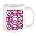 Pink Peace Signs Mugs