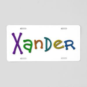 Xander Play Clay Aluminum License Plate