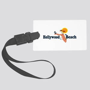 Hollywood Beach - Map Design. Large Luggage Tag