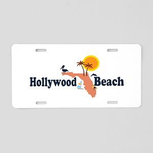 Hollywood Beach - Map Design. Aluminum License Pla