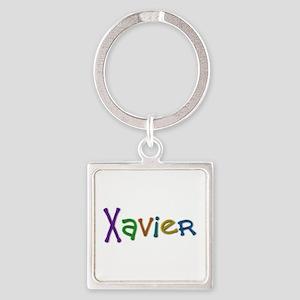 Xavier Play Clay Square Keychain