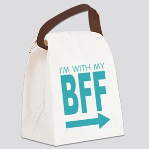 Im with my BFF Canvas Lunch Bag