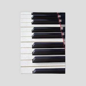 Piano Keys 5'x7'Area Rug