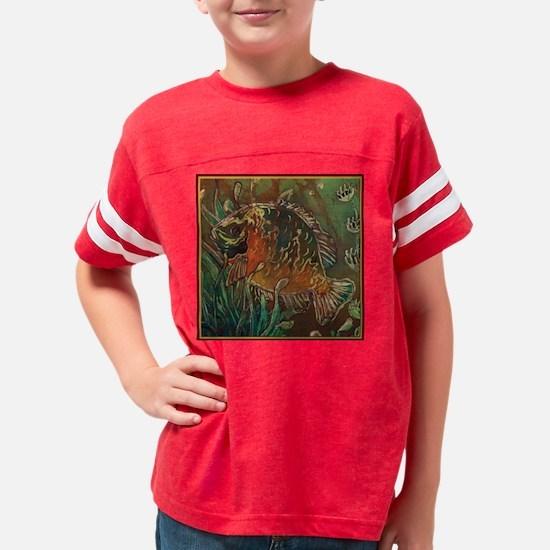 Bluegill-zoomblack 10x10 Youth Football Shirt