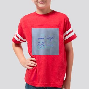 glu on blue 14by14 Youth Football Shirt