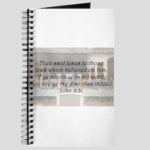 John 8:31 Journal