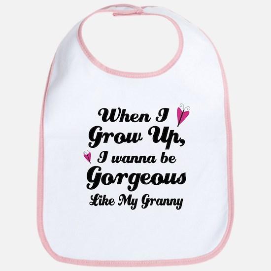 Gorgeous Like My Granny Bib