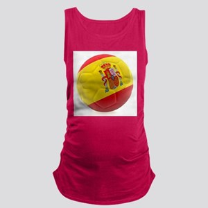 Spain world cup soccer ball Maternity Tank Top