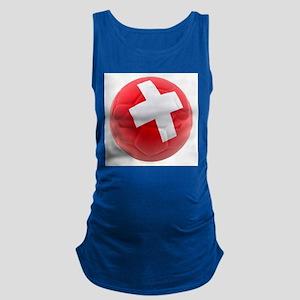 Switzerland World Cup Ball Maternity Tank Top