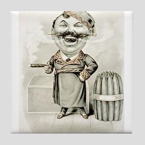 The jolly smoker - 1880 Tile Coaster