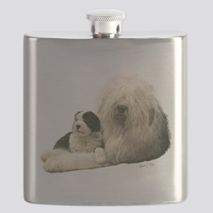 Old Eng. Sheepdog / Bobtail Flask