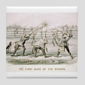 The first bird of the season - 1879 Tile Coaster