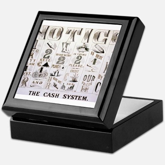 The cash system - 1877 Keepsake Box