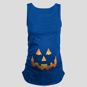 Scary Pumpkin Face Maternity Tank Top