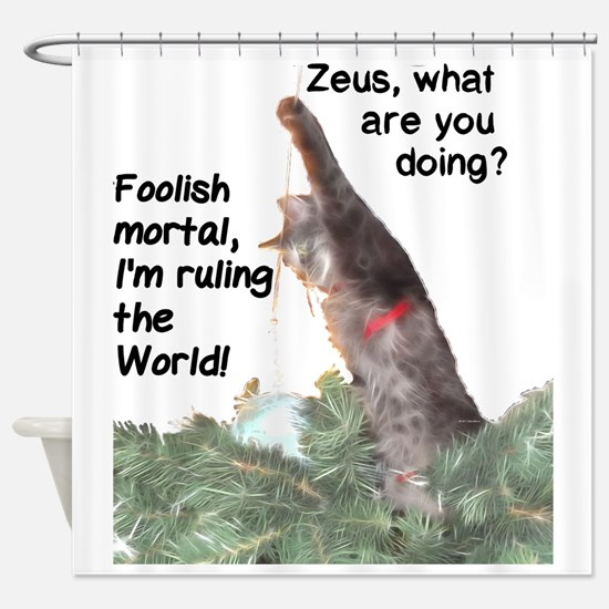 Funny Cats rule Shower Curtain