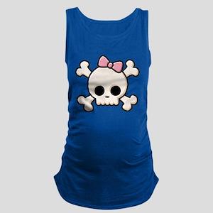 Cute Skull Girl Maternity Tank Top
