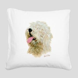 Old Eng. Sheepdog / Bobtail Square Canvas Pillow