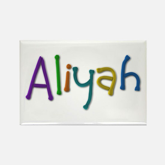 Aliyah Play Clay Rectangle Magnet