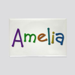 Amelia Play Clay Rectangle Magnet