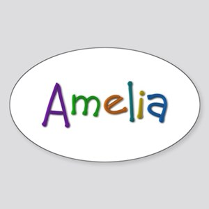 Amelia Play Clay Oval Sticker