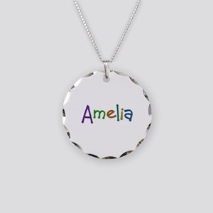 Amelia Play Clay Necklace Circle Charm
