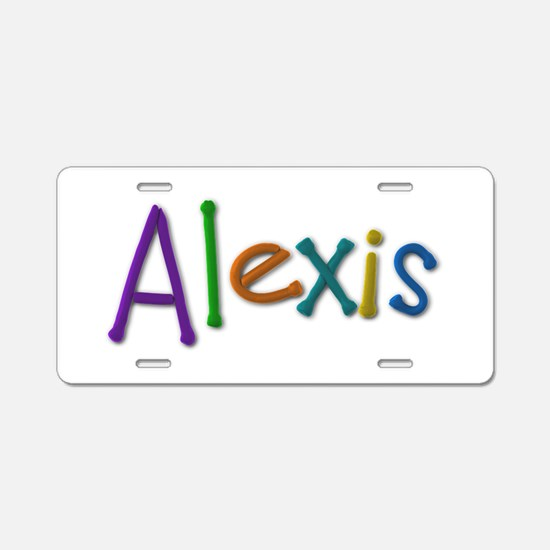 Alexis Play Clay Aluminum License Plate