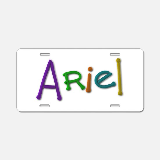 Ariel Play Clay Aluminum License Plate