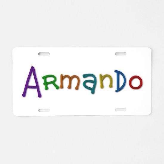 Armando Play Clay Aluminum License Plate