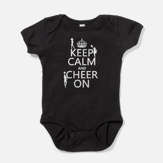 Keep Calm and Cheer on Baby Bodysuit