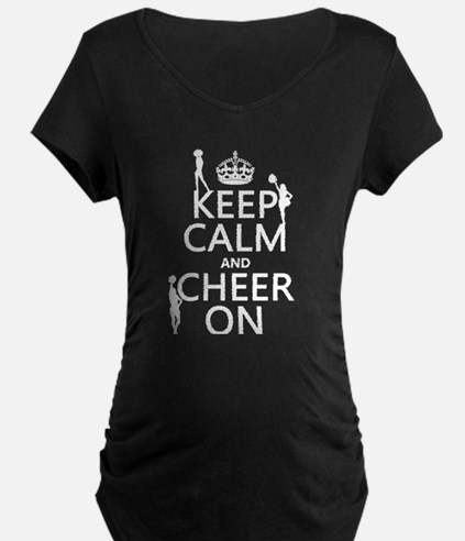 Keep Calm and Cheer on Maternity T-Shirt