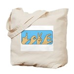 Love & Peace hands Tote Bag