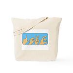 Love & Peace hands Tote Bag