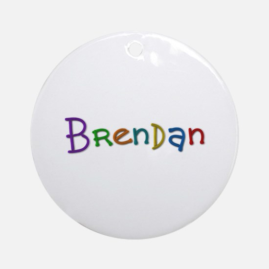 Brendan Play Clay Round Ornament