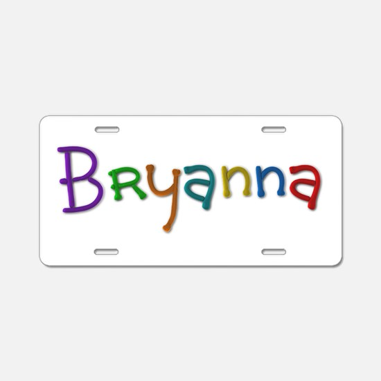 Bryanna Play Clay Aluminum License Plate