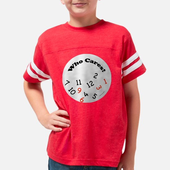 2-who_cares_silver_clock Youth Football Shirt