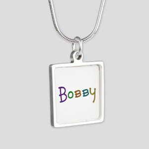 Bobby Play Clay Silver Square Necklace
