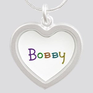 Bobby Play Clay Silver Heart Necklace