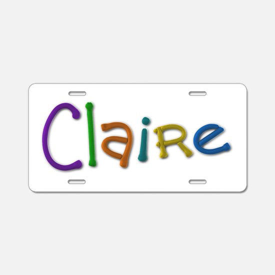Claire Play Clay Aluminum License Plate