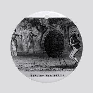 Bending her beau - 1880 Round Ornament