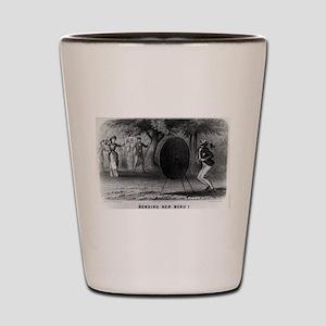 Bending her beau - 1880 Shot Glass