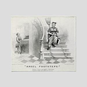 Angel footsteps - 1878 Throw Blanket