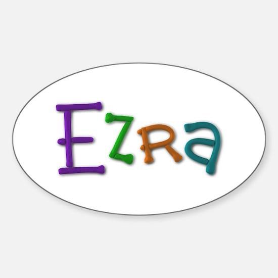 Ezra Play Clay Oval Decal