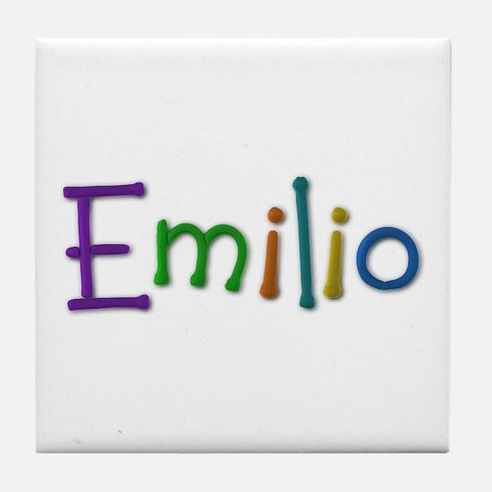 Emilio Play Clay Tile Coaster