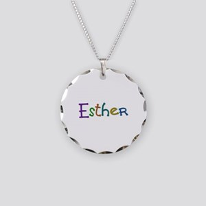 Esther Play Clay Necklace Circle Charm