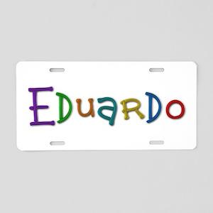 Eduardo Play Clay Aluminum License Plate