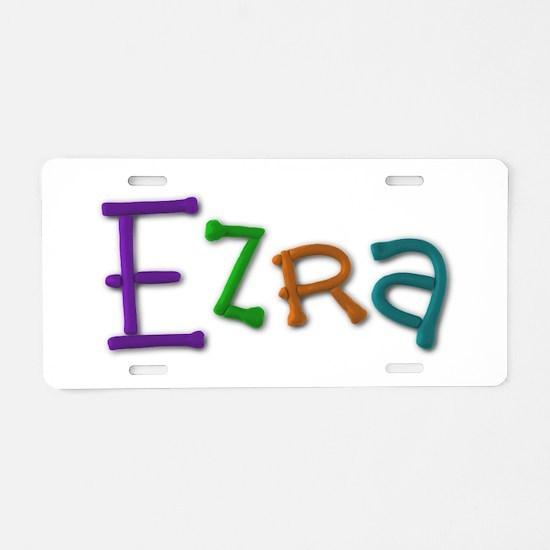 Ezra Play Clay Aluminum License Plate
