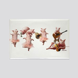 Pig Opera Rectangle Magnet