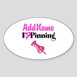 LOVE PINNING Sticker (Oval)