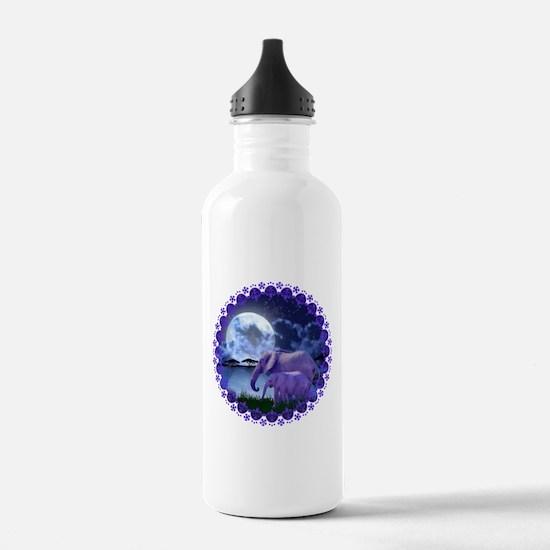 Contemplative Elephant Water Bottle