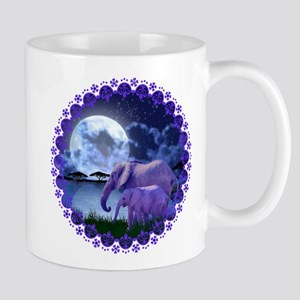 Contemplative Elephants Mug